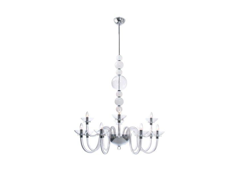Murano glass chandelier OXYGEN   Chandelier by Veronese
