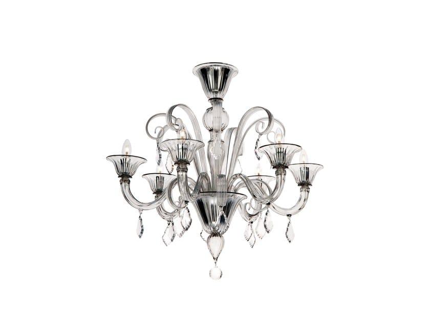 Murano glass chandelier FLANELLE | Chandelier by Veronese