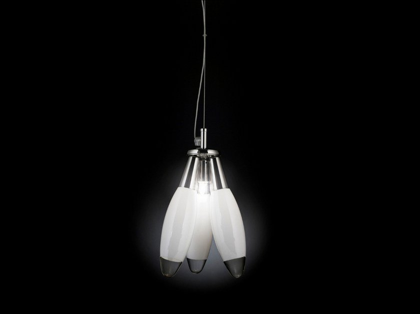 Glass pendant lamp FLO | Pendant lamp by Metal Lux