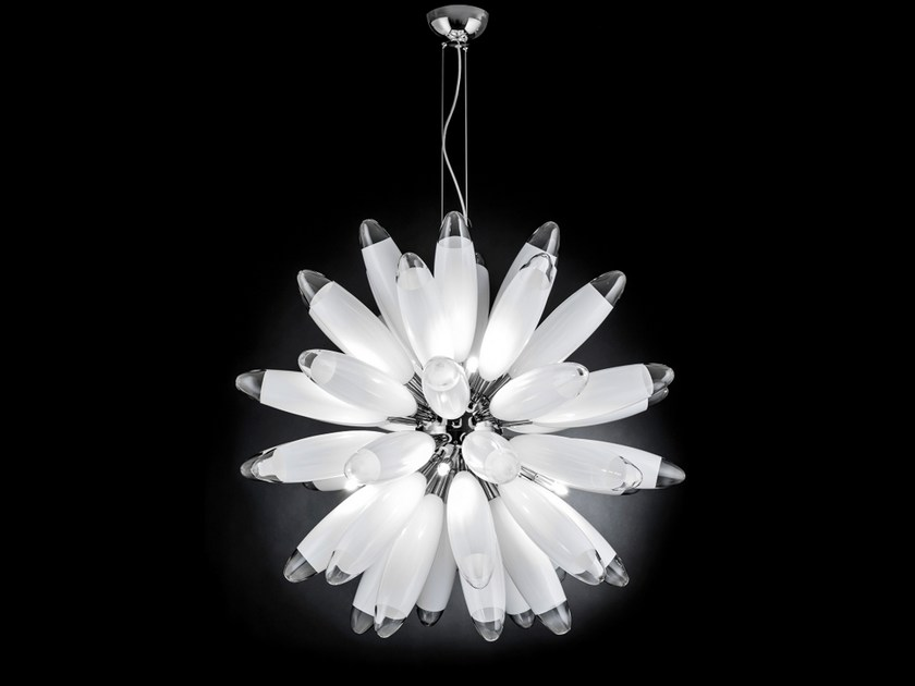 Glass pendant lamp FLO | Pendant lamp by Metal Lux