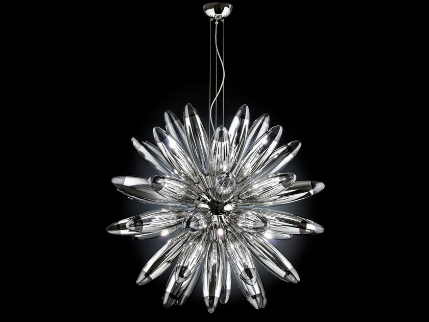 Mirrored glass pendant lamp FLO | Pendant lamp by Metal Lux