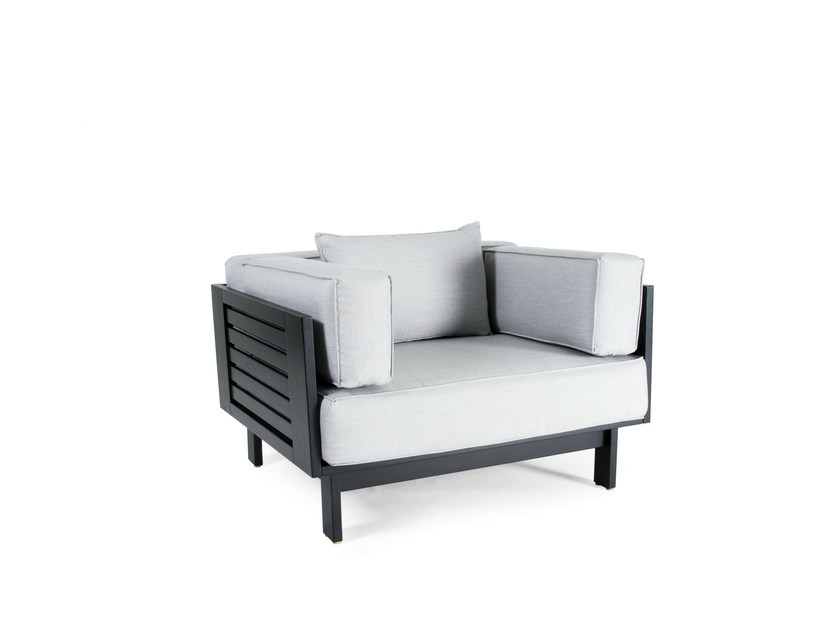 Teak garden armchair with armrests FALSTERBO   Garden armchair by Skargaarden