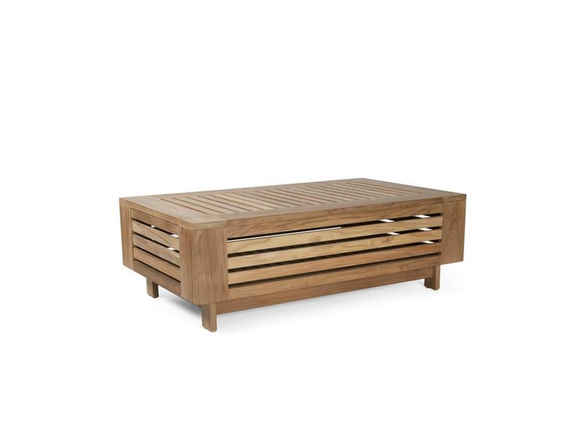 Low Rectangular garden side table FALSTERBO | Garden side table by Skargaarden