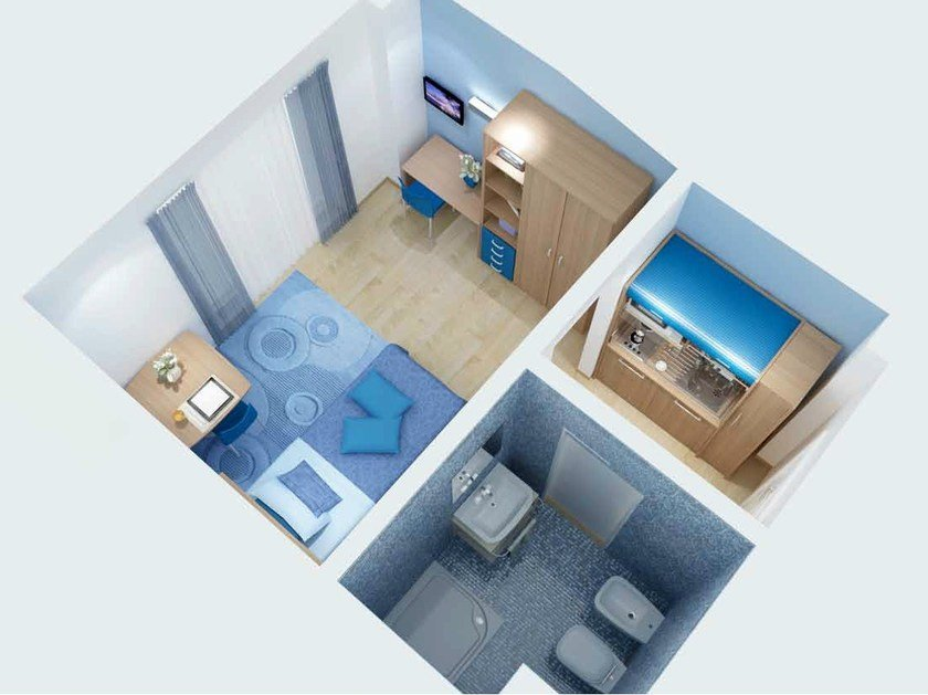 Furniture for Student Residence ZEUS by Mobilspazio
