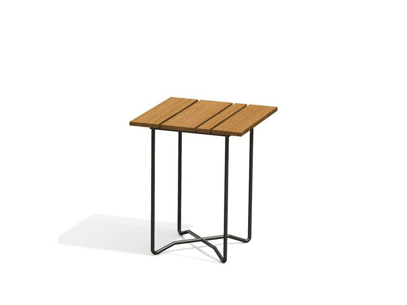 Square garden side table GRINDA | Garden side table by Skargaarden