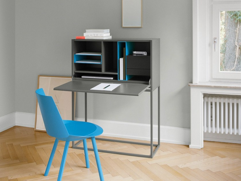 Steel and wood secretary desk NOTA by e15