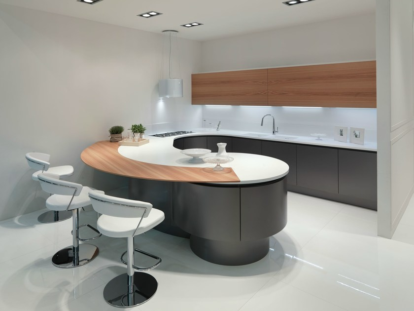 DOMINA | Kitchen with peninsula By Aster Cucine S.p.A.