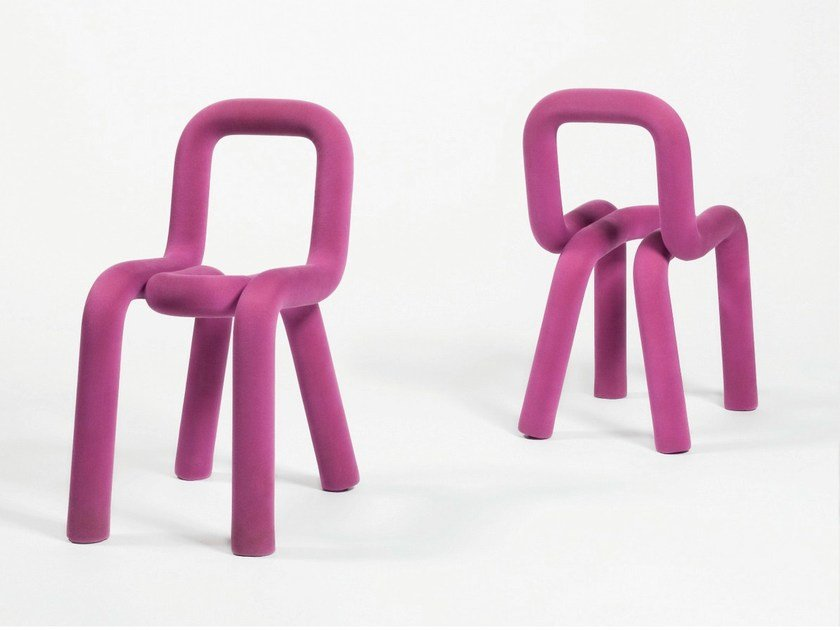 Fabric chair with removable cover BOLD | Chair by Moustache
