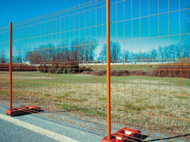 Construction site temporary and mobile fencing MOBICLIC by Gruppo CAVATORTA