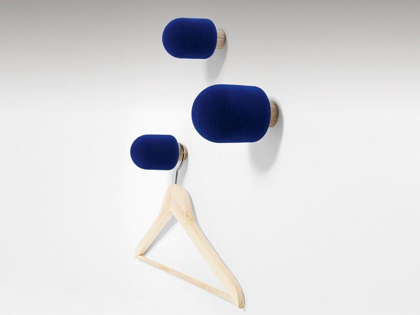 Wall-mounted foam coat rack MICRO by Moustache
