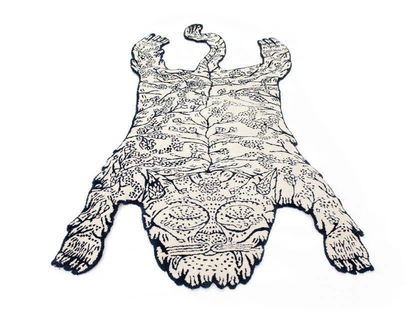 Handmade wool rug TIGER by Moustache