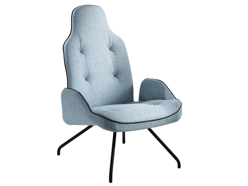 Upholstered armchair with armrests BETIBÙ P-M by CHAIRS & MORE