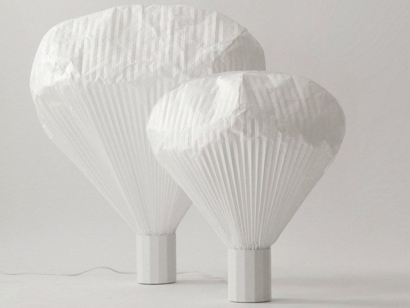 Nonwoven table lamp VAPEUR | Table lamp by Moustache