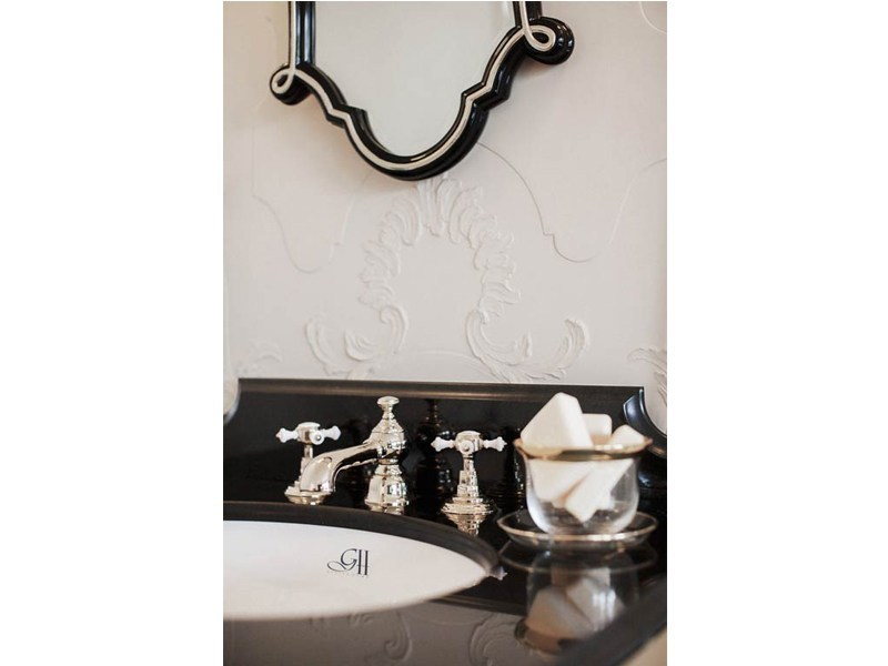 3 hole chrome-plated brass washbasin tap CHELSEA   basin mixer 3 tap holes by GENTRY HOME