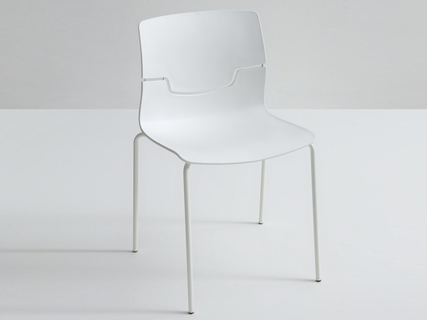Stackable polypropylene chair SLOT by GABER
