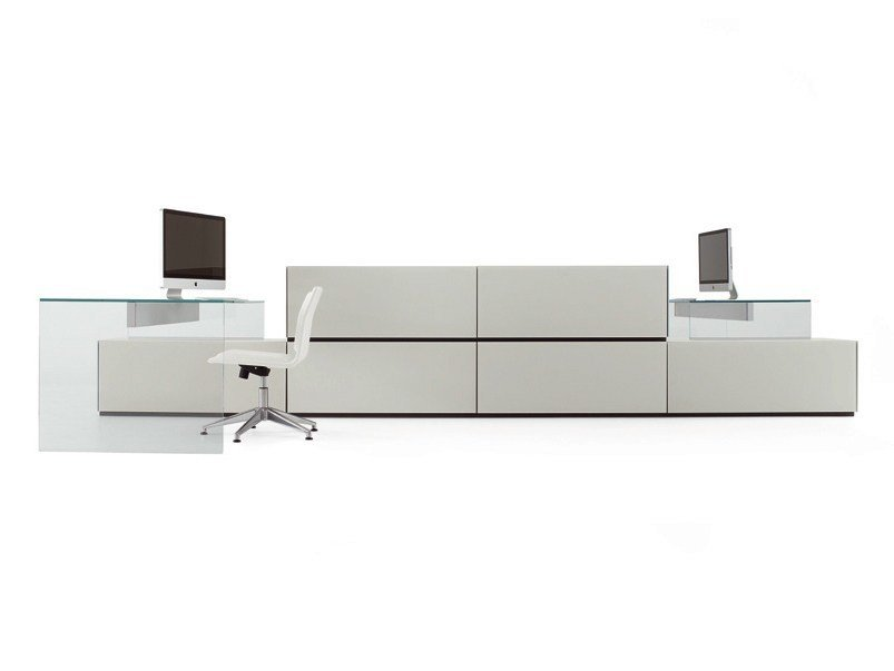 Crystal office workstation AIR UP | Office workstation by Gallotti&Radice