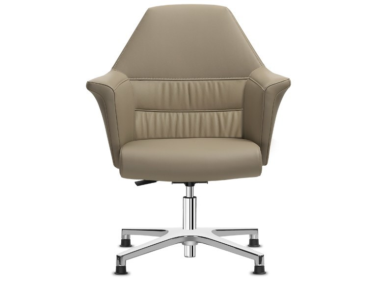 Swivel aluminium task chair with 4-Spoke base with armrests OF COURSE | Task chair with 4-Spoke base by SitLand