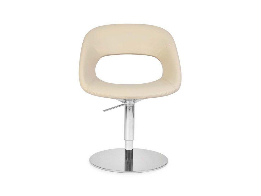 Swivel height-adjustable chair AREA VIP ROUND by Riccardo Rivoli