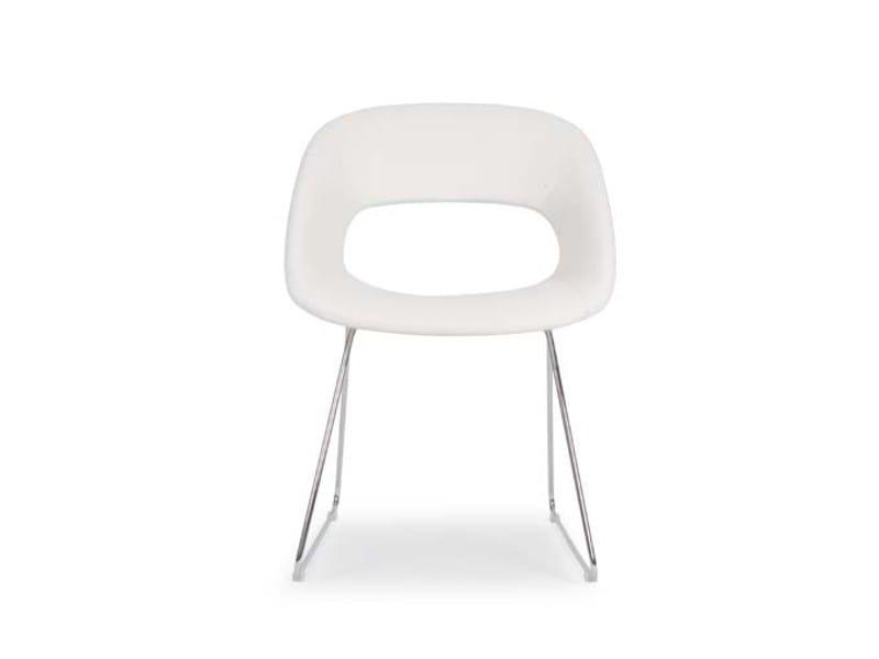 Sled base polyurethane chair AREA VIP FILO by Riccardo Rivoli