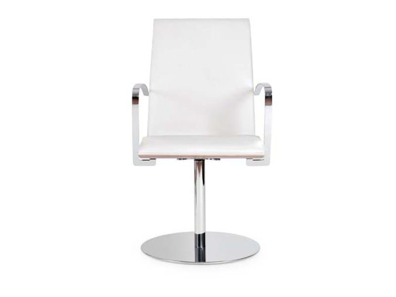 Swivel chair with armrests JONY ROUND by Riccardo Rivoli