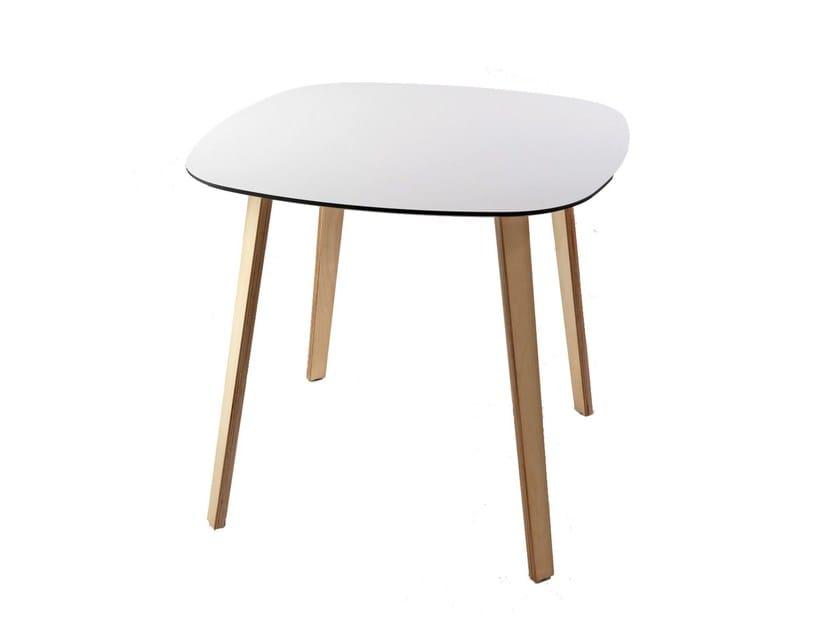 Square laminate table LOTTUS WOOD | Table by ENEA