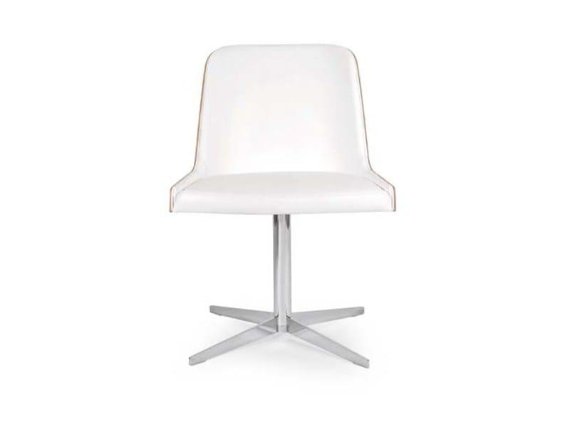 Swivel chair with 4-spoke base MARLÈNE STAR by Riccardo Rivoli