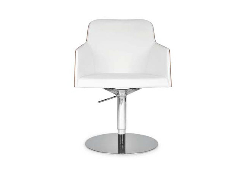 Swivel chair with armrests MARLÈNE ROUND | Chair with armrests by Riccardo Rivoli