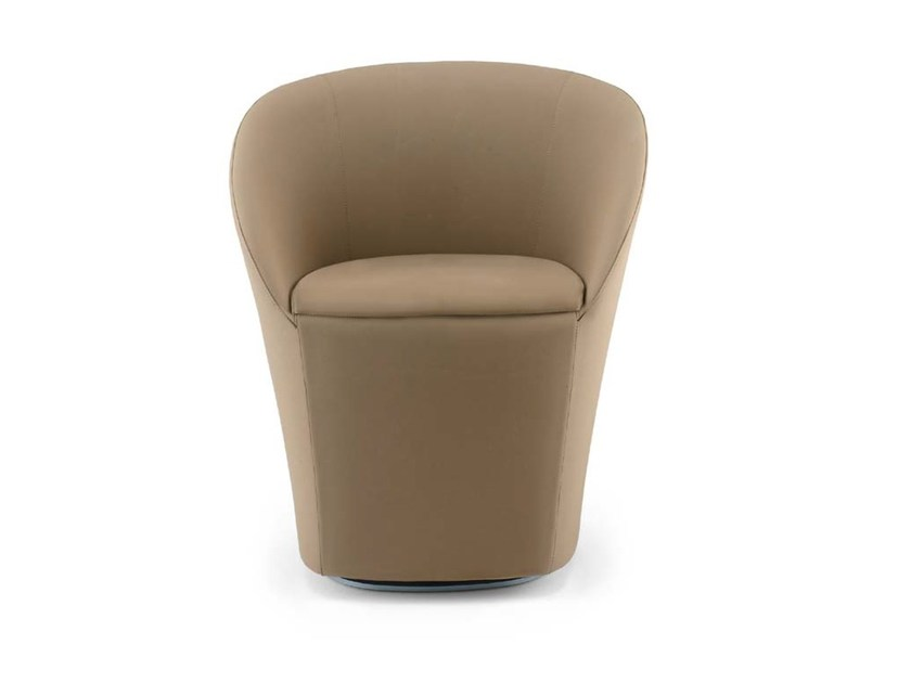 Swivel fabric armchair MADDY by Riccardo Rivoli
