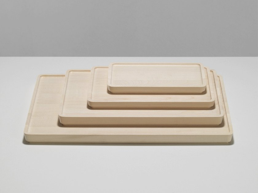 Wooden tray NAGA by Zilio A&C