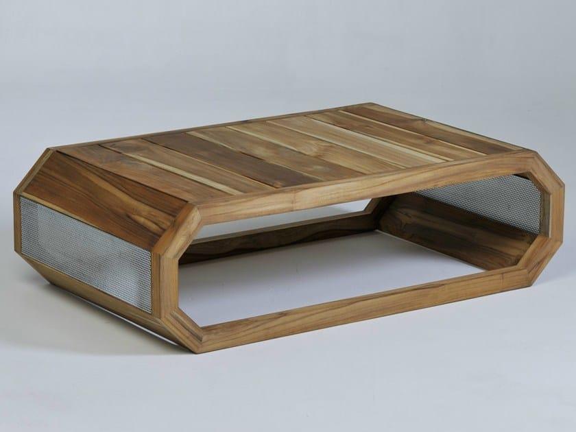 Low Rectangular garden side table HIVE by Lgtek Outdoor