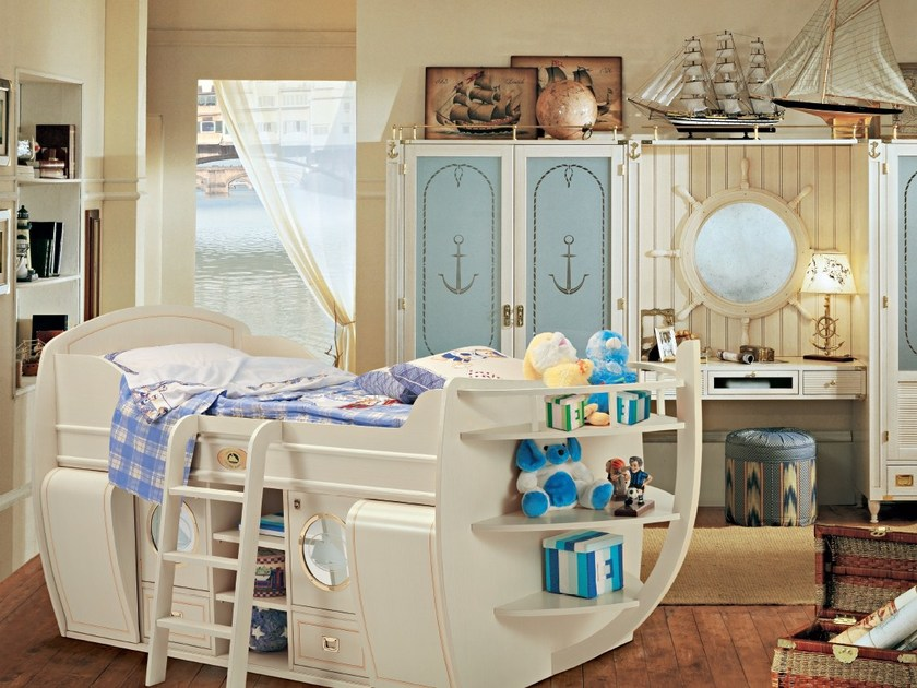 Fitted wooden bedroom set CAPITANO | Bedroom set by Caroti