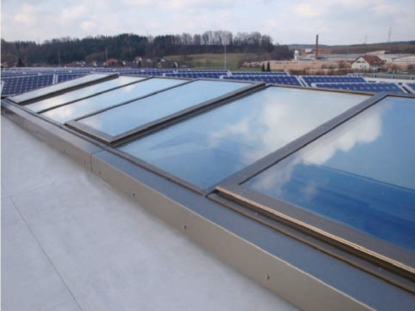 Continuous rooflight WICTEC 50 ROOFLIGHTS by WICONA