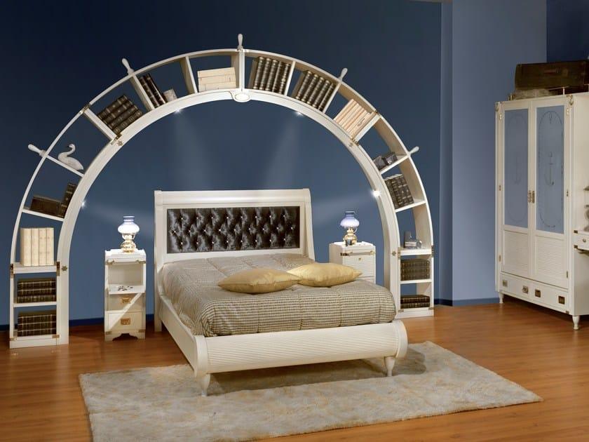 Wooden teenage bedroom with bridge wardrobe ARKATA CAPITONNÈ by Caroti