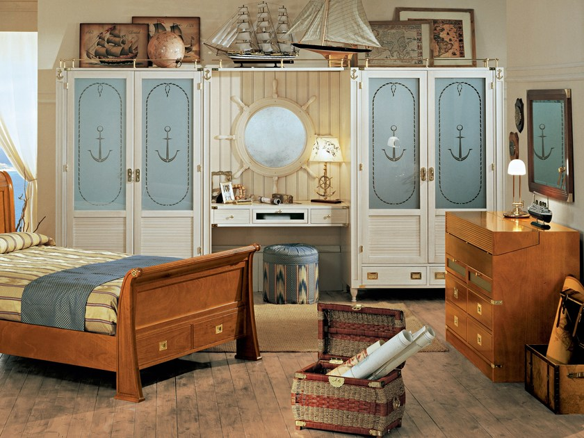 Wooden bedroom set GOUVERNAIL | Bedroom set by Caroti