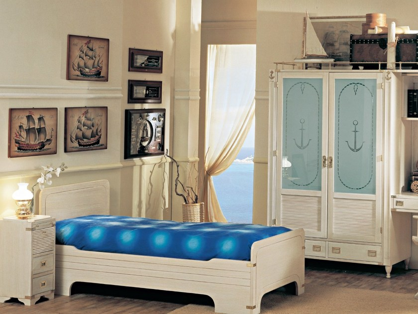 Fitted wooden teenage bedroom 802 | Bedroom set by Caroti