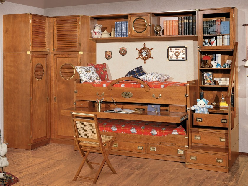 Wooden bedroom set 246 RECLINABILE | Bedroom set with bridge wardrobe by Caroti
