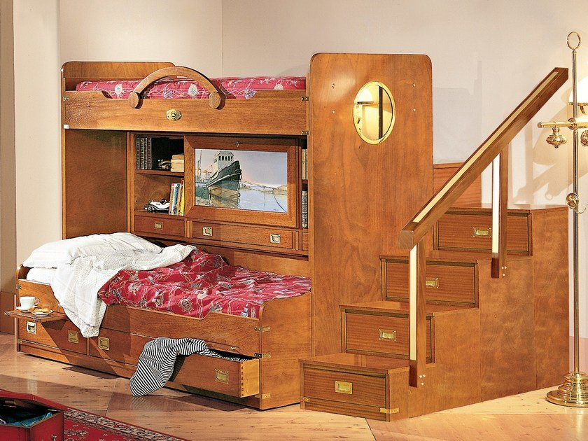 Wooden bedroom set 245 | Loft bedroom set by Caroti