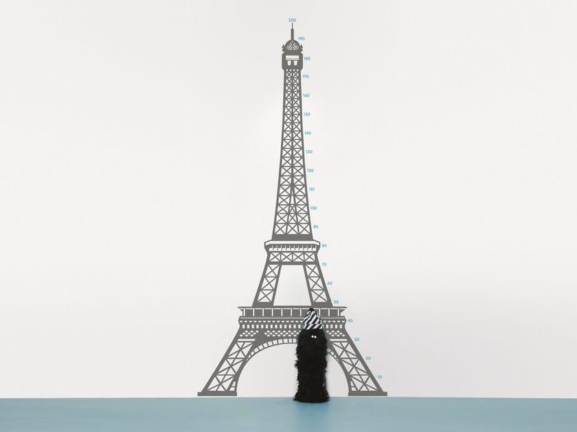 Parete Souvenir Paris Moustache Measuring Adesivo Da In Vinile yN8nv0wmO