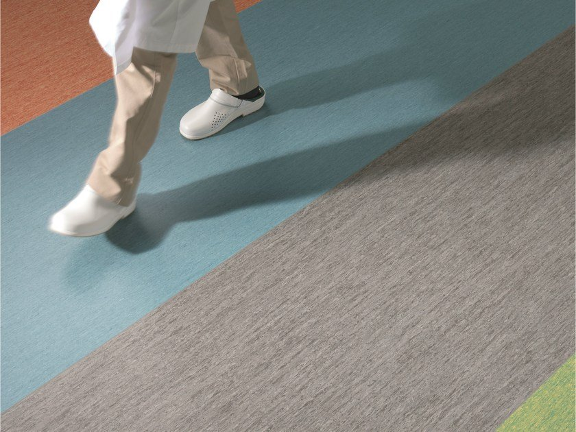 Antibacterial anti-slip PVC flooring iQ OPTIMA by TARKETT