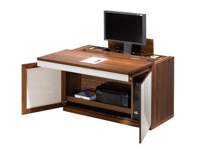 mobile porta computer in legno massello cubus mobile