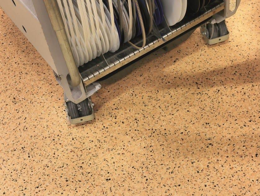 Static dissipative PVC flooring iQ TORO SC by TARKETT