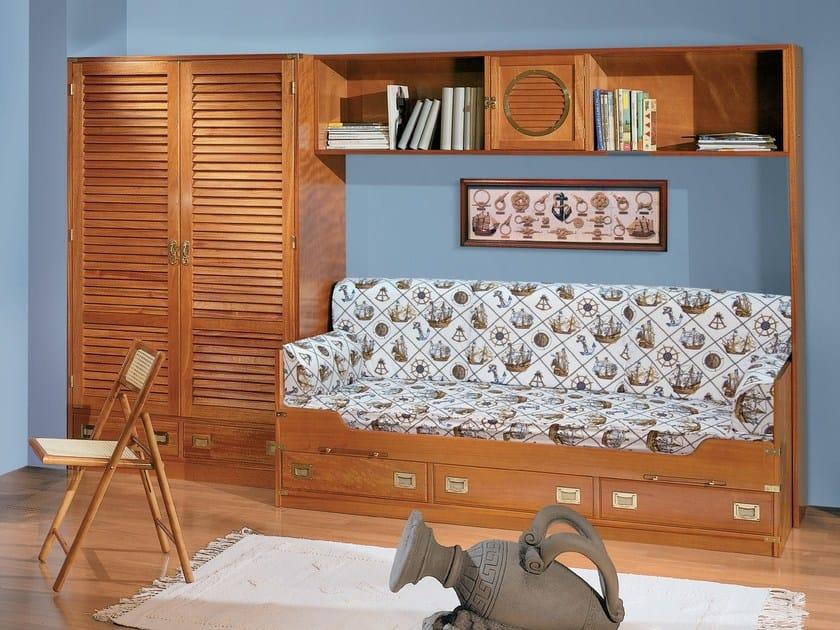 Wooden bedroom set with bridge wardrobe 210 | Bedroom set with bridge wardrobe by Caroti