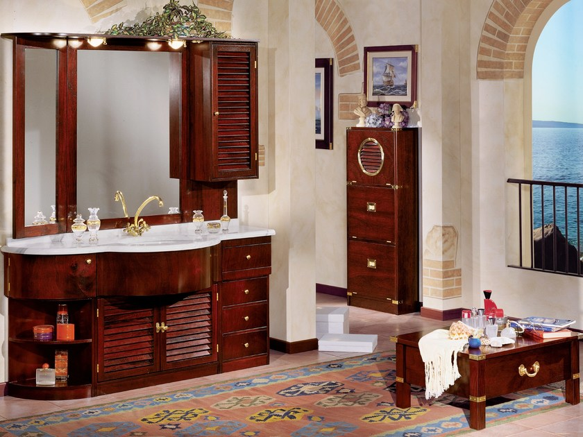 Wooden bathroom furniture set 501 | Bathroom furniture set by Caroti