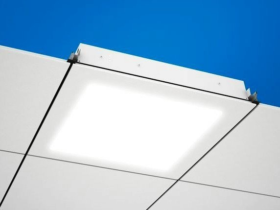 LED recessed Lamp for false ceiling Ecophon Square 43™ LED by Saint-Gobain ECOPHON
