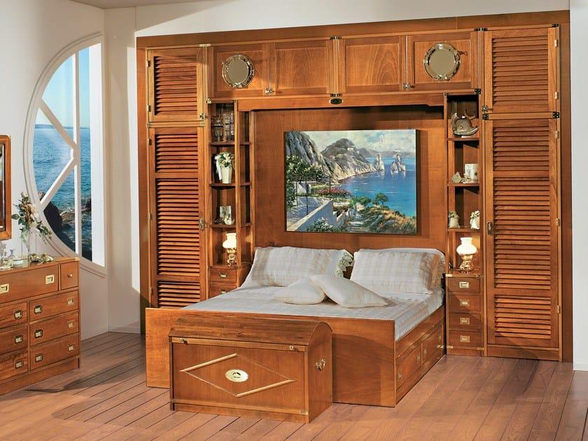 Sectional wooden walk-in wardrobe 600 | Walk-in wardrobe by Caroti