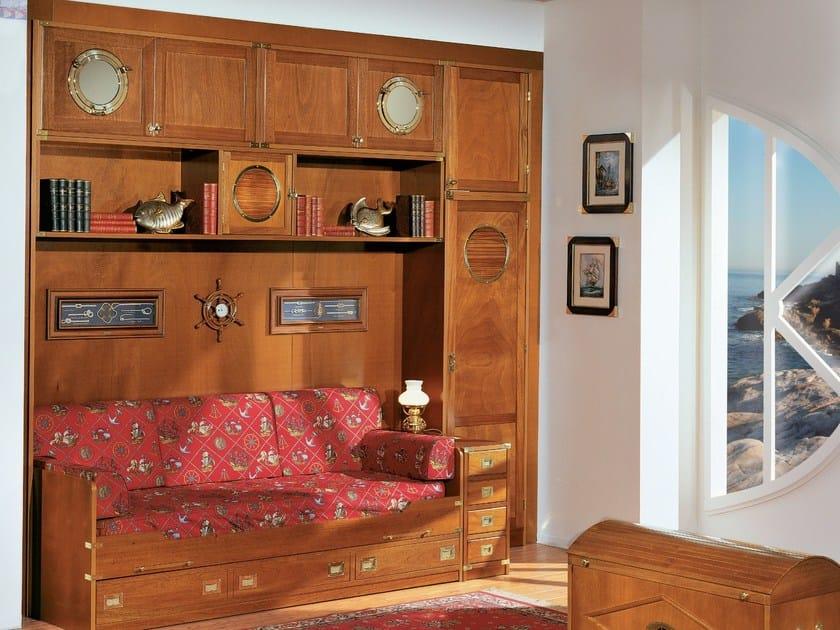 Sectional wooden walk-in wardrobe 602 | Walk-in wardrobe by Caroti