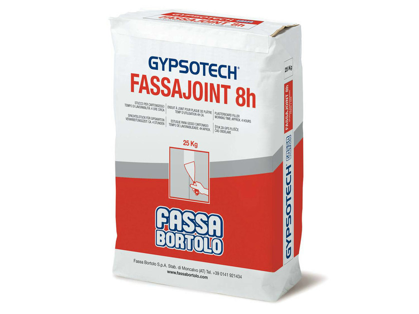 Gypsum and decorative plaster FASSAJOINT 8H by FASSA