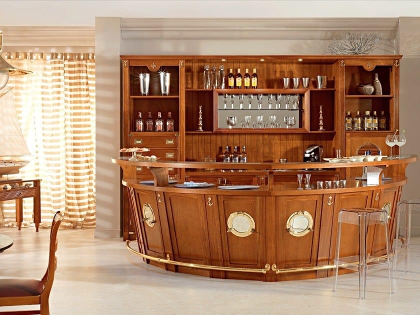 Solid wood bar cabinet BOLINA | Solid wood bar cabinet by Caroti
