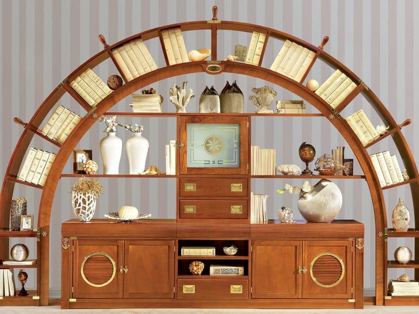 Solid wood bookcase / storage wall ARKATA | Storage wall by Caroti