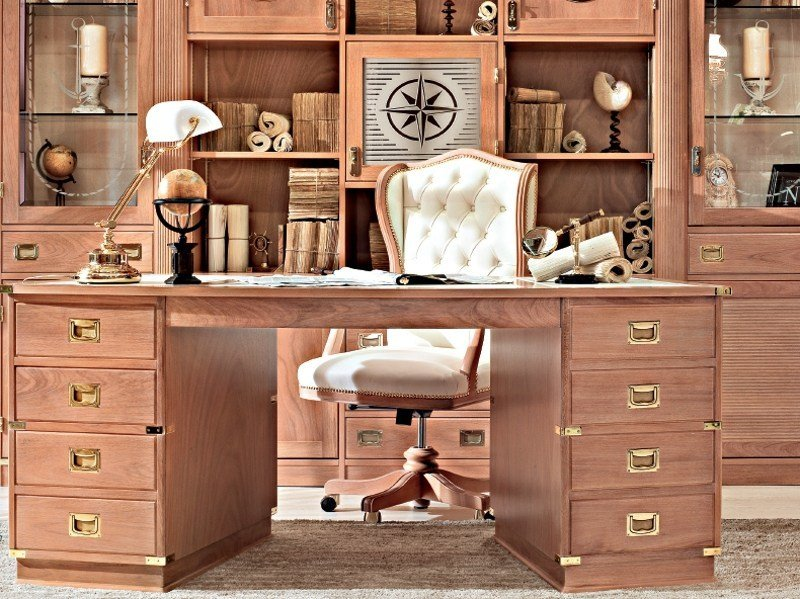 Wooden office desk with drawers REGENT | Executive desk by Caroti